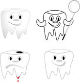 Tooth collection — Stock Vector