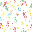 Vector de stock : Confetti and stars