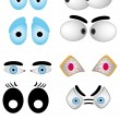 Royalty-Free Stock Vector Image: Cartoon eye set