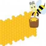 Пчелы и Сота — Cтоковый вектор
