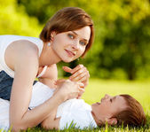 Happy mother with a kid — Stock Photo