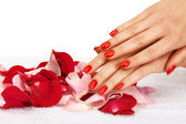 Red nails — Stockfoto