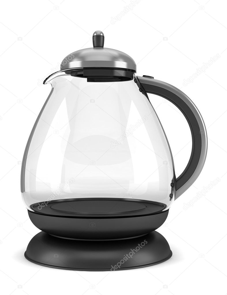 Modern glass teapot isolated on white background — Stock Photo #5514751