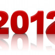 New year 2012 with clipping path — Stock Photo #5860225