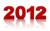 Año nuevo 2012 con trazado de recorte — Foto de Stock