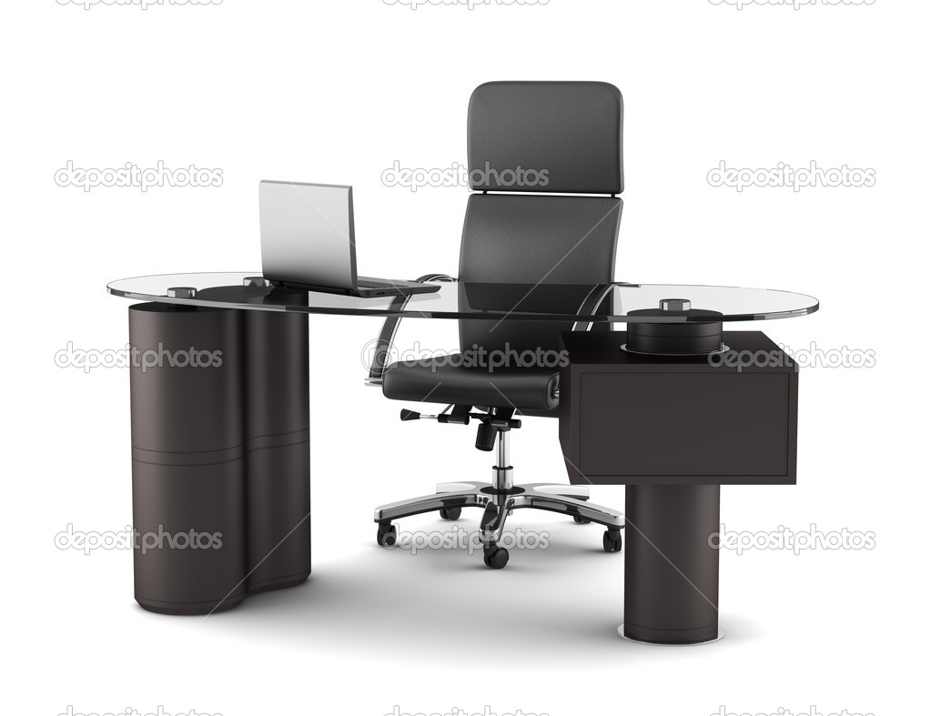 Modern office workplace isolated on white background — Stock Photo #6182693