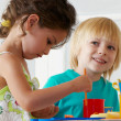 Employment in a kindergarten - Stock Photo