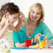 Employment in a kindergarten — Stock Photo