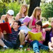 Group of college students outdoors — Stock Photo #6379983