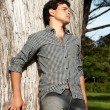 Portrait of a young guy outdoors — Stock Photo