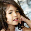 Portrait of the nice Latin American girl - Stockfoto