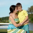 Mother and son in nature — Stock Photo #6405201