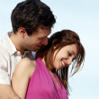Young couple against the sky — Stock Photo #6442055