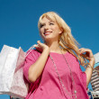Shopping pretty girl — Stock Photo