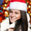Portrait emotional Mrs. Santa — Stock Photo