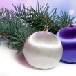 Royalty-Free Stock Photo: Christmas ornaments with background