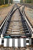 Tracks and rails — Stock Photo