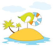 Kuş adası. vektör illuatration — Stok Vektör