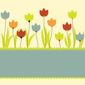 Background with flowers. Vector illustration — Stock Vector