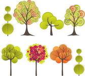 Abstract tree. Vector illustration — Stock Vector