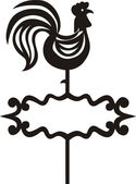 Rooster weathervane — Stock Vector