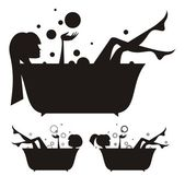 девушки в бане. — Cтоковый вектор
