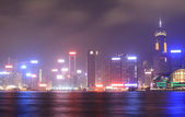 Night scene of Hong Kong — Stock Photo