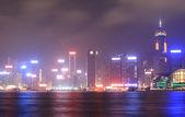 Night scene of Hong Kong — Stock Photo