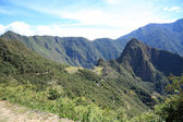 Inca trail to Machu Picchu ruins — Stock Photo