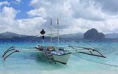 традиционные лодки филиппины — Стоковое фото
