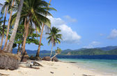 Tropical white sand beach — Stock Photo