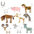 Royalty-Free Stock Vector Image: Set of animals (farm)