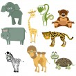 Set animal (Safari) - Stock Vector
