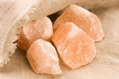 Pink salt of Hymalayas. mineral — ストック写真