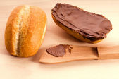 Bread with chocolate — Stock Photo