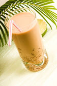 Pearl milk drink on white. Bubble tea — Stock Photo