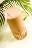 Pearl milk drink on white. Bubble tea — Stock Photo