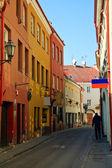 Narrow Street In Vilnius — Stock Photo