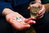 Hand With Pills — Stock Photo