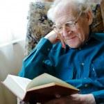 Reading Funny Book — Stock Photo