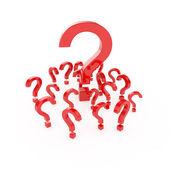 Puntos de pregunta — Foto de Stock