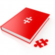 Stock Photo: Book with puzzle