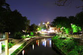 River walk at night — Stock Photo