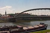克拉科夫旧镇桥 — 图库照片