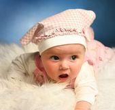 Baby on white — Stock Photo