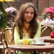 Stock Photo: woman in cafe