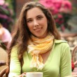 Woman in cafe — Stock Photo #5880244