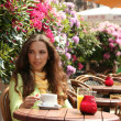 Woman in cafe — Stock Photo #5880250