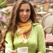 Woman in cafe — Stock Photo #5880255