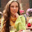 Woman in cafe — Stock Photo #5880257